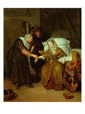 A Maid Taking a Lady's Pulse Giclee Print by Richard Brackenburgh