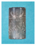 Achaemenid Cylinder Seal, Persian Dynasty, 7th Century Bc Giclee Print by  Persian