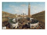 Fair in St. Mark's Square Giclee Print by Gabriele Bella