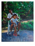 Grandfather And Child, 2010 Premium Giclee Print by Colin Bootman