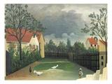 The Farm Yard, 1896-98 Giclee Print by Henri J.F. Rousseau