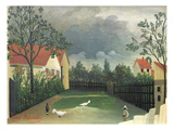 The Farm Yard, 1896-98 Giclee Print by Henri Rousseau