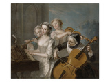 The Sense of Hearing, c.1744-7 Premium Giclee Print by Philippe Mercier