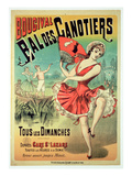 Poster for the 'Bal Des Canotiers, Bougival' (Colour Litho) Premium Giclee Print by  French