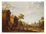 Village Scene with Peasants Merrymaking, 17th Century Giclee Print by Joost Cornelisz