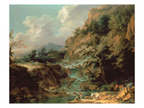 Landscape with Waterfall Giclee Print by Joachim Franz Beich