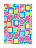Circles And Squares Giclee Print by Louisa Knight