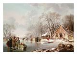 Winter Scene Premium Giclee Print by Andries Vermeulen