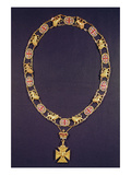 Collar of Honour, Gold and Enamel, Presented to the Duke of Wellington (1769-1852), by George IV Giclee Print