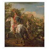 A Hussar on Horseback, 1773 Giclee Print by Bernardo Bellotto