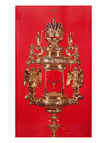 Monstrance, Bearing the Haarlem Mark for 1764 and Possibly the Maker's Mark, a Pierced Lozenge Giclee Print by  Dutch