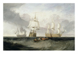 The 'Victory' Returning from Trafalgar, 1806 Premium Giclee Print by J. M. W. Turner