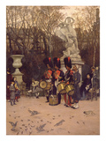 Beating the Retreat in the Tuileries Gardens, 1867 (Panel) Reproduction proc&#233;d&#233; gicl&#233;e par James Jacques Joseph Tissot