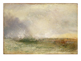 Stormy Sea Breaking on a Shore, 1840-5 (Oil on Canvas) Giclee Print by Joseph Mallord William Turner