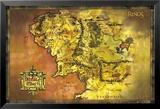 Landkaart Lord Of The Rings, klassieke versie Posters