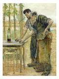The Blacksmiths (Oil on Canvas) Giclee Print by Jean Francois Raffaelli