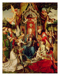 Madonna and Child and Saints, 16th Century, (Triptych) Giclee Print by Jan De Beer