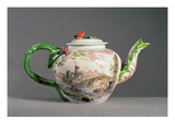 Longton Hall Teapot, C.1755 (Porcelain) Giclee Print by  English