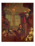 The Dull Sermon Giclee Print by John Collet
