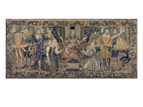 Tapestry Depicting the Sacrifice of Isaac Giclee Print by  English