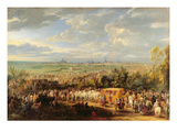 The Entry of Louis XIV (1638-1715) and Marie-Therese (1638-83) of Austria in to Arras Premium Giclee Print by Adam Frans van der Meulen