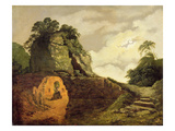 Virgil's Tomb by Moonlight with Silius Italicus, 1779 Giclee Print by Joseph Wright Of Derby