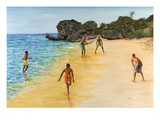 Beach Cricket Giclee Print by Victor Collector