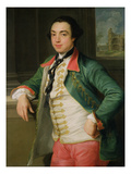 James Caulfield (1728-99), 4th Viscount Charlemont (Later 1st Earl of Charlemont) C.1753-56 Gicle-tryk af Pompeo Girolamo Batoni