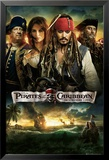 Pirates of the Caribbean - On Stranger Tides - Cast Pster
