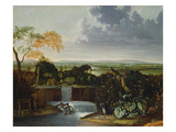 Extensive Landscape with a Watermill Giclee Print by Matthias Withoos
