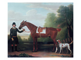 Lord Portman's 'snap' Held by Groom with Dog Giclee Print by James Seymour
