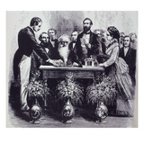 Professor Samuel Finley Breese Morse (1791-1872) Explaining the Function of His Invention Giclee Print by  American