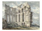 Tynemouth Priory, Northumberland, C.1792-93 (W/C over Pencil on Paper) Giclee Print by Thomas Girtin