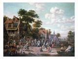 Village Festival, 1716 Giclée-Druck von Rutger Verburgh