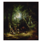 Gypsy Encampment in the New Forest, 19th Century Giclee Print by William Snr. Shayer
