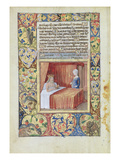 Ms Lat. Q.V.I.126 F.37V a King Lying in Bed, from the 'Book of Hours of Louis D'Orleans', 1490 Giclee Print by Jean Colombe