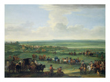 George I (1660-1727) at Newmarket, 4th or 5th October 1717, c.1717 Giclee Print by John Wootton