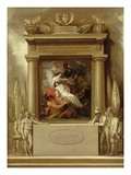 Project for a Monument, &#39;The Apotheosis of Nelson&#39;, 1807 (Oil on Canvas) Giclee Print by Benjamin West