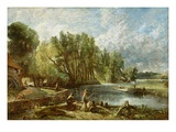 The Young Waltonians - Stratford Mill, c.1819-25 Giclee Print by John Constable