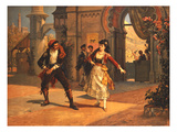 Scene from the Opera 'Carmen', by Georges Bizet (1838-75) (Colour Litho) Giclee Print
