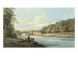 The New Walk, York, C.1798 (Pencil and W/C on Paper) Giclee Print by Thomas Girtin