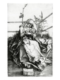 Virgin and Child Seated on a Grass Bench, 1503 (Engraving) Giclee Print by Albrecht Dürer