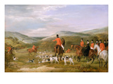 The Berkeley Hunt, 1842: the Meet Premium Giclee Print by Francis Calcraft Turner