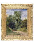 A Wooded Lane, C.1825 (Oil on Millboard) Giclee Print by Richard Parkes Bonington