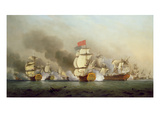 Vice Admiral Sir George Anson's (1697-1762) Victory Off Cape Finisterre, 1749 Giclee Print by Samuel Scott