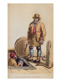 The Porter Brewer's Draymen from Ackermann's 'World in Miniature' (Litho) Giclee Print by Frederic Shoberl