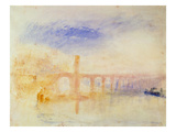 The Moselle Bridge, Coblenz, C.1842 (W/C and Graphite on Paper) Giclee Print by Joseph Mallord William Turner