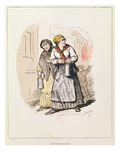 Two Petroleuses of the Commune, 1871 (Colour Engraving) Giclee Print by Charles Albert d'Arnoux Bertall