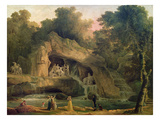 The Bosquet Des Bains D'Apollo Premium Giclee Print by Hubert Robert