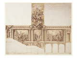 Design for Ceiling Walls and Staircase Giclee Print by Sir James Thornhill